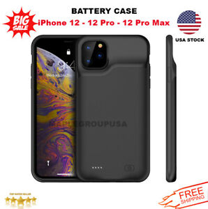 iPhone 12 - 12 Pro - Max External Battery Charger Case Power Bank Charging Cover