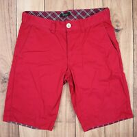 Burberry Mens Vintage Chino Shorts Red Size 30W/11L