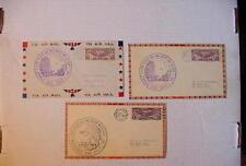 3 Very Fine COVERS ~ First Flight Air Mail ~  Amarillo, TX Wichita Falls