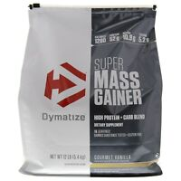 Dymatize SUPER MASS GAINER Whey Muscle Protein BCAA Creatine 12 lbs PICK FLAVOR