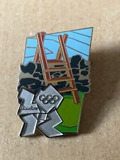 Extremely Rare London 2012 Olympics Pin Badge Walking Countryside Stile Wall