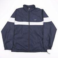Vintage NIKE Black Lightweight Zip Up Sports Track Jacket Mens Size XL
