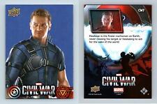 Hawkeye #CW7 Captain America Civil War 2016 Upper Deck Walmart Trading Card