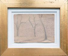 Gustav Wunderwald 1888 Köln-1945 Berlin: Bäume vor Mauer, Neue Sachlichkeit