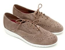 NEW Munro Sport Almond Suede Wellesley Oxford Sneaker size 8 M