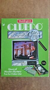 Cluedo The Great Detective Video  Game By Waddingtons 1986