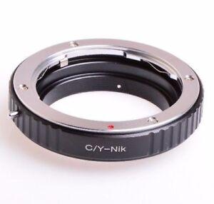 Macro CY C/Y Contax Yashica Carl Zeiss Yashinon Lens to Nikon Mount Adapter ring