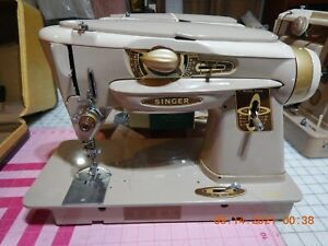 Singer 500A Slantomatic Sewing Machine; the Rocketeer. With Cams