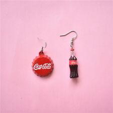 Coke Bottle Cap Earrings Asymmetrical Design Personality Cola Dangler Jewelries