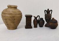 6pcs/set 1/12 Dollhouse Miniature Mini Ceramics Flowerpot Decoration Accessories
