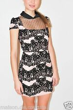 RED VALENTINO PINK BLACK FLORAL FLOWER DRESS SIZE SMALL 40