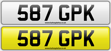 587 GPK King Kelly Dateless Personalised Registration Cherished Number Plate