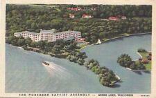 Postcard Northern Baptist Assembly Green Lake Wi