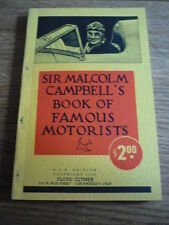 MALCOLM CAMPBELL'S BOOK OF FAMOUS MOTORISTS, MOTOR RACING BOOK, CLYMER