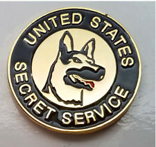 US Secret Service K9 USSS Badge Mini Pin Canine Lapel Hat Tie Tack Police Dog