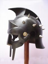 New Super Gladiator Maximus Medieval Armor Helmet Roman Greek Larp + FREE LINER