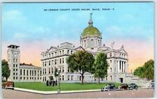 WACO, Texas  TX    McLENNAN COUNTY COURT HOUSE  c1940s Linen  Postcard