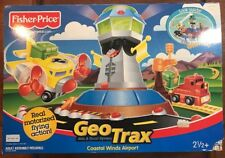 Brand New GeoTrax Coastal Winds Airport Set with Plane Truck Track G5760