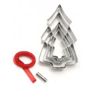 D.LINE TREE ORNAMENT COOKIE CUTTER SET OF 5