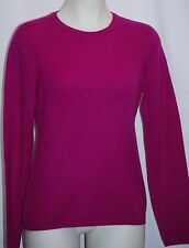 CHARTER CLUB 100% 2-Ply Cashmere Rich Currant Crew Neck Sweater M $139 NWT