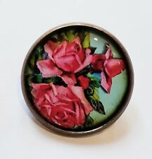 The Rose Vintage Style Brooch Pin Gift NEW Flower Pink Boho Prettty Roses