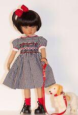 "13"" Doll Boneka Dianna Effner Little Darling Black White check School Dress 33cm"