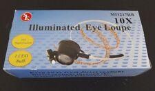 BRAND NEW 10X x31mm Illuminated Hands-Free Eye Loupe Jeweler Watch Tool