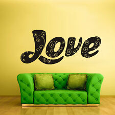 Wall Decal Sticker Bedroom Decals Love Word Quotes Letter Character (Z683)