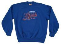 Vtg University Of Florida Gators Nutmeg Mills USA Sweatshirt script big logo Lrg
