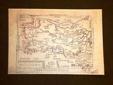 Mappa Brescia Theatrum Orbis Terrarum 1724 Abraham Ortelius Ortelio Ristampa