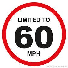 20 x limitata a 60 MPH veicolo limitazione della velocità PARAURTI stampato AUTO FURGONE ADESIVO