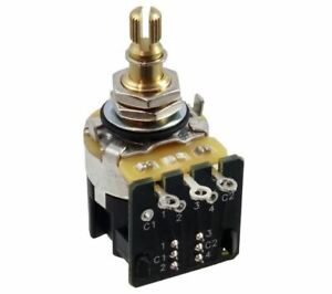 CTS Push / Pull Guitar Potentiometer 500K Log Pot With Short Shaft