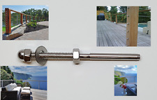 """T316 Stainless Steel Swage Threaded Tensioner for 1/8"""" Cable Railing Systems"""