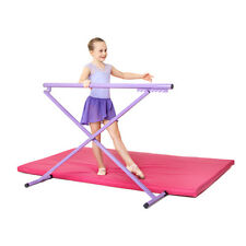 Purple Madison Ballet Barre Folding Training Free Standing Height Adjustable