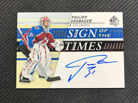 2019-20 UPPER DECK SP AUTHENTIC PHILIPP GRUBAUER SIGN OF THE TIMES AUTO #SOTT-PG