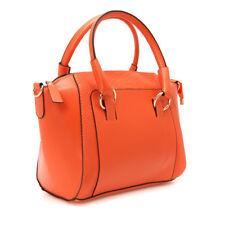 Women Handbag Vintage Alligator Satchel PU Leather Fashion Shoulder Bag Orange