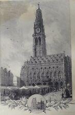 Arras, Lot 2 lithographies, Arthur Mayeur, 1914-1918, WW1, guerre, Pas-de-Calais