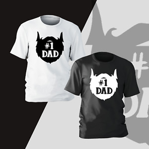 Fathers Day T-Shirt Number 1 Dad Daddy Papa Funny Novelty Mens Kids Gift Present