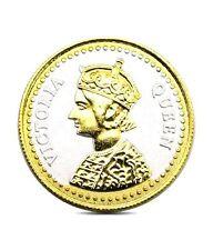 Pure Silver Coin 999 BIS Hallmarked Queen 24K Gold Plating