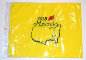 2018 MASTERS Official EMBROIDERED Golf Pin FLAG Sealed