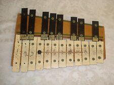 VINTAGE PRIMITIVE AMERICAN / HAND MADE RHYTHM BAND 20 BELL / KEY WOOD XYLOPHONE