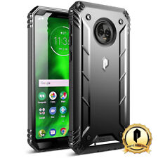 Poetic For Moto G6 Rugged Case [Revolution] Shockproof TPU Cover Black