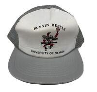 Vintage 90s UNLV Runnin Rebels Foam Mesh SnapBack Hat