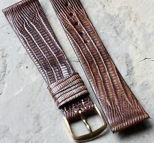 Color variations Real Teju Lizard 19mm vintage Seiko watch band has Seiko buckle