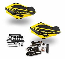 Powermadd Sentinel LED Handguards Guards Yellow Black Mount Ski Doo Snowmobile