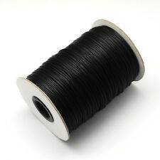 1roll/100yards Black Korean Wax Polyester Cords 2mm Bracelet Necklace Making DIY