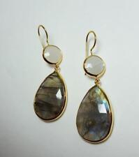 Margaret Elizabeth 2-Stone Drops Moonstone & Labradorite Earrings NWOT- $178