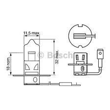 Bosch Longlife Faro Bombilla 453 H3 12 V