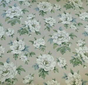 2.4m Laura Ashley Wisley Fabric in linen, blue Remnant, Crafts curtains