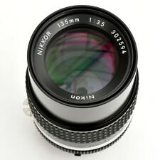 Nikon Nikkor 135mm f/3.5 AIS Sup'r shp Mn'l Fc's Lens. Mint-. See test Images